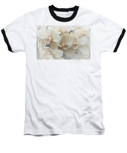 The Secret To Orchids Baseball T-Shirt by Sherry Hallemeier