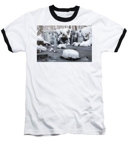 The Secret Waterfall In Winter 1 Baseball T-Shirt