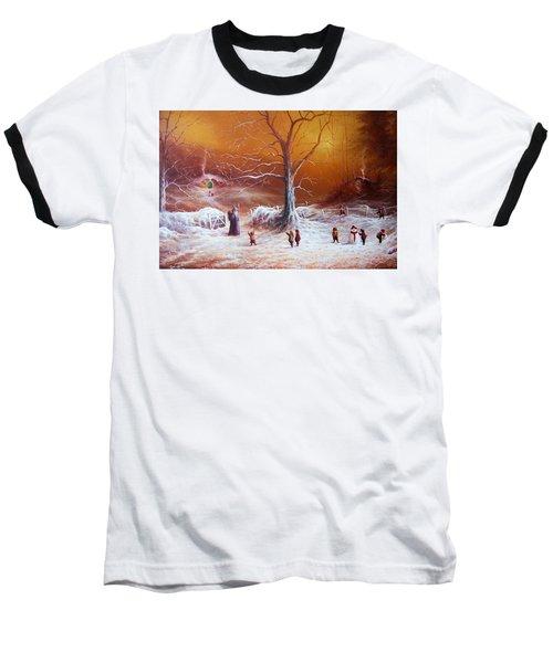 The Shire First Snowfall Baseball T-Shirt by Joe Gilronan
