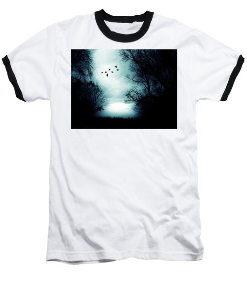 The Skies Hold Many Secrets Known Only To A Few Baseball T-Shirt by Michele Carter