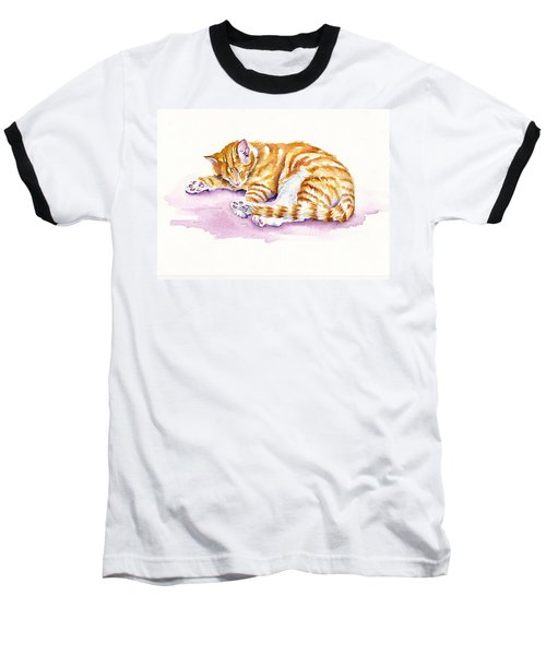The Sleepy Kitten Baseball T-Shirt