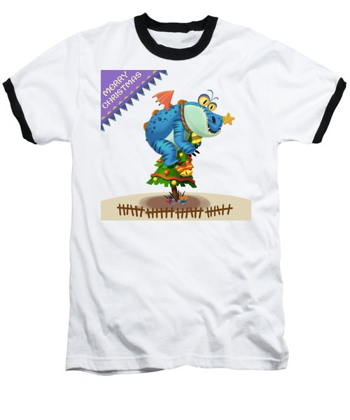 The Sloth Dragon Monster Comes To Wish You Merry Christmas Baseball T-Shirt