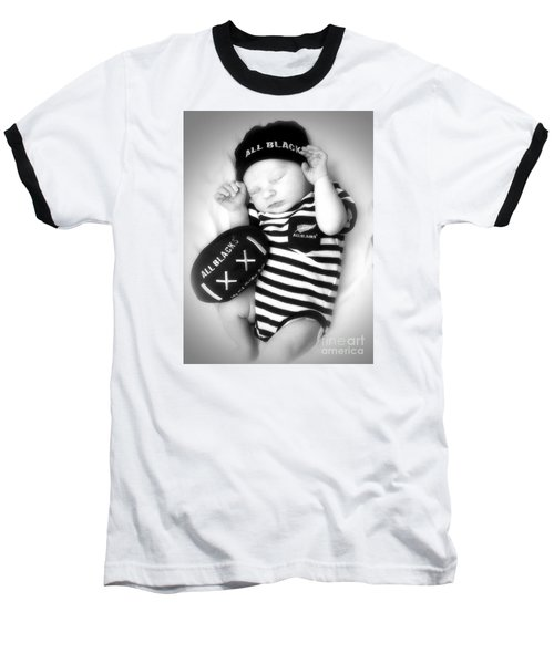 The Smallest All Black Baseball T-Shirt by Karen Lewis