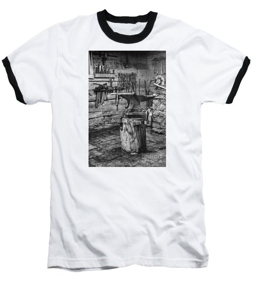 Baseball T-Shirt featuring the photograph The Smithy's Work Awaits by William Fields
