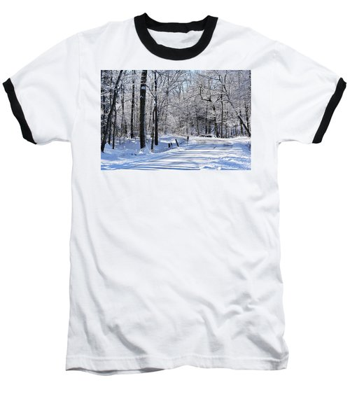 The Snowy Road 1 Baseball T-Shirt