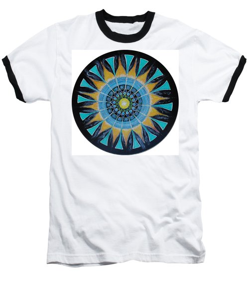 Baseball T-Shirt featuring the painting The Soul Mandala by Patricia Arroyo
