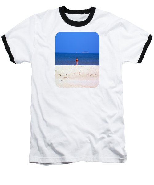 Baseball T-Shirt featuring the photograph The Swimmer by Ethna Gillespie