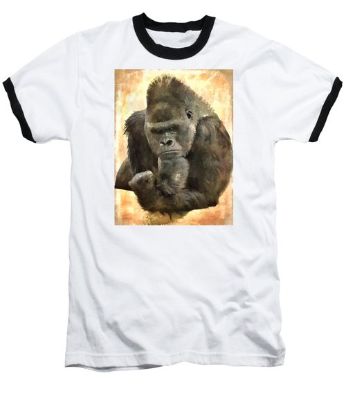 The Thinker Baseball T-Shirt by Diane Alexander