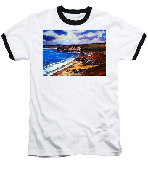 The Three Cliffs Bay Baseball T-Shirt