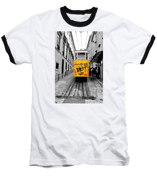 Baseball T-Shirt featuring the photograph The Tram by Marwan Khoury