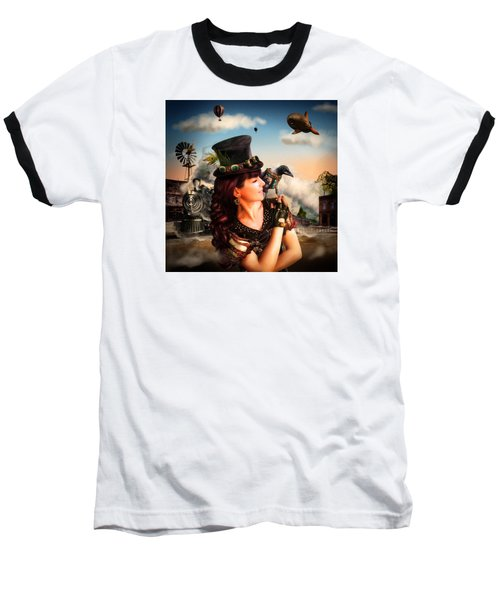 The Traveler Baseball T-Shirt by Alessandro Della Pietra