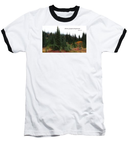 Baseball T-Shirt featuring the photograph The Trees by Lynn Hopwood
