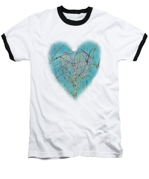 Baseball T-Shirt featuring the painting The Trees Speak To Me In Whispers by Deborha Kerr