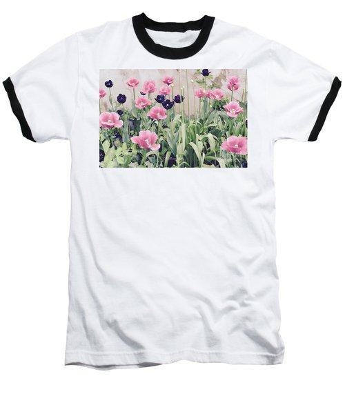 The Tulip Garden Baseball T-Shirt by Jeannie Rhode