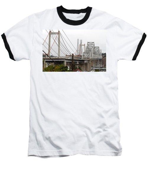 The Two Carquinez Bridges At Crockett And Vallejo California . Aka Alfred Zampa Memorial Bridge . 7d8919 Baseball T-Shirt