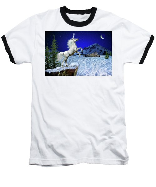 Baseball T-Shirt featuring the digital art The Ultimate Return Of Unicorn  by William Lee