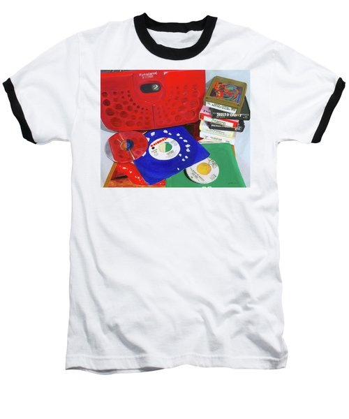 Baseball T-Shirt featuring the painting The Universal Language by Lynne Reichhart