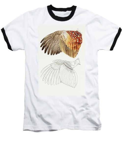The Upper Side Of The Pheasant Wing Baseball T-Shirt