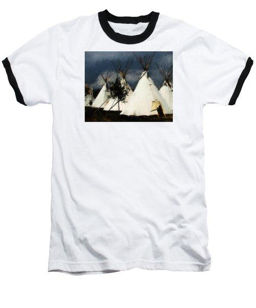 Baseball T-Shirt featuring the photograph The Village by John Freidenberg