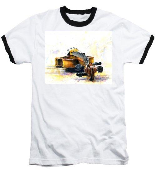 The Violin Baseball T-Shirt by John D Benson