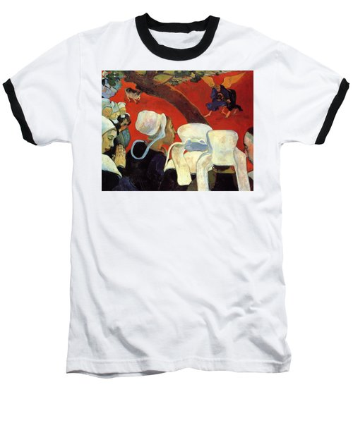 The Vision After The Sermon Jacob Wrestling With The Angel 1888 Baseball T-Shirt