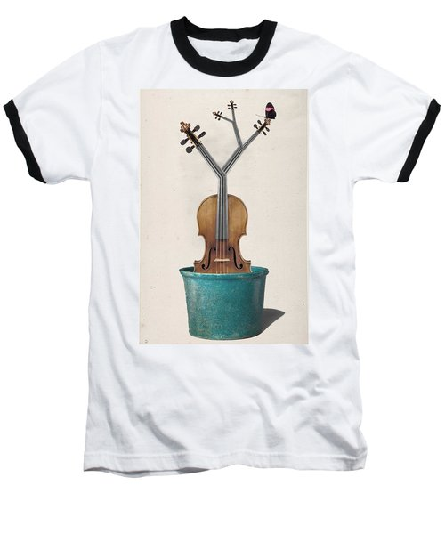 The Voilin Plant Baseball T-Shirt by Keshava Shukla