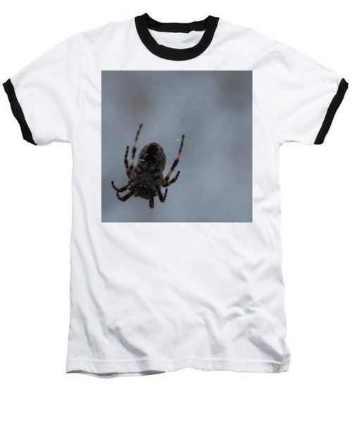 Baseball T-Shirt featuring the photograph The Webs We Weave by Ramona Whiteaker