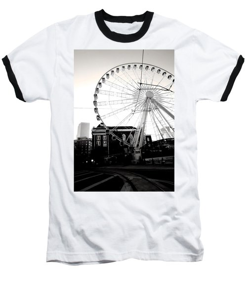 The Wheel Black And White Baseball T-Shirt