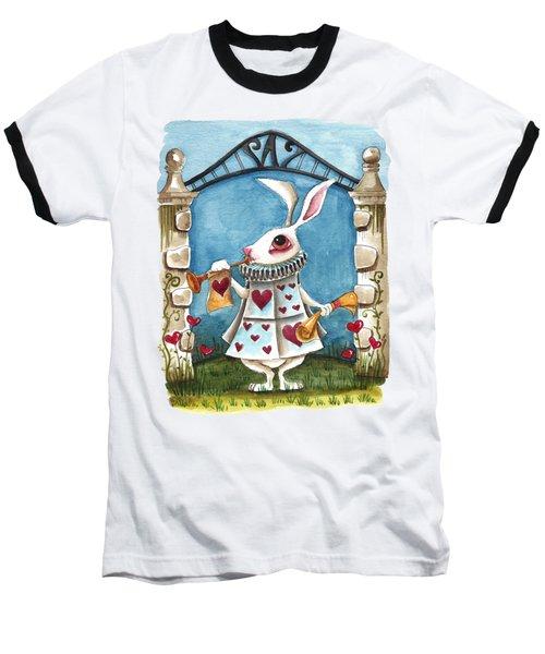 The White Rabbit Announcing Baseball T-Shirt