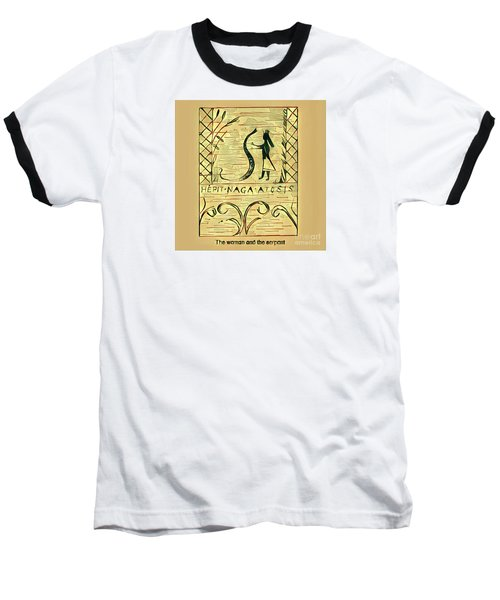 The Woman And The Serpent Baseball T-Shirt