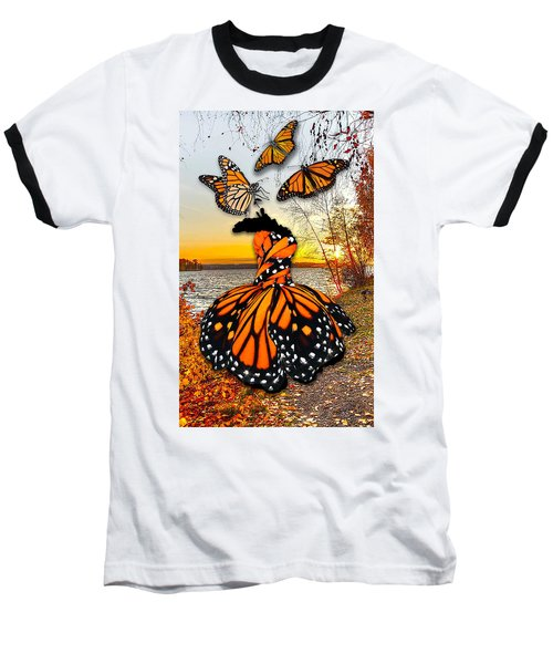 Baseball T-Shirt featuring the mixed media The Wonder Of You by Marvin Blaine