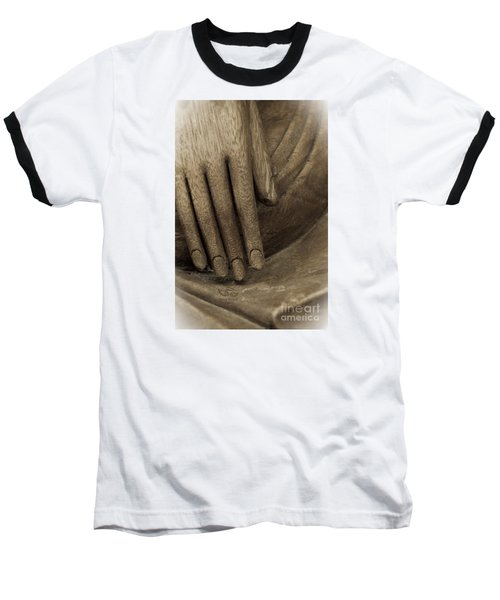 The Wooden Hand Of Peace Baseball T-Shirt
