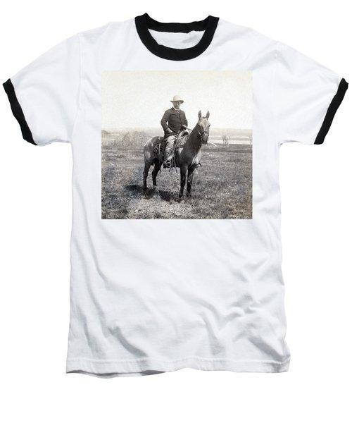 Theodore Roosevelt Horseback - C 1903 Baseball T-Shirt by International  Images