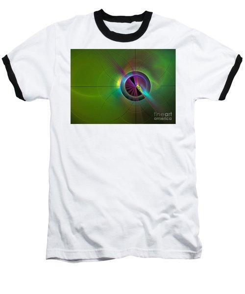 Theory Of Green - Abstract Art Baseball T-Shirt