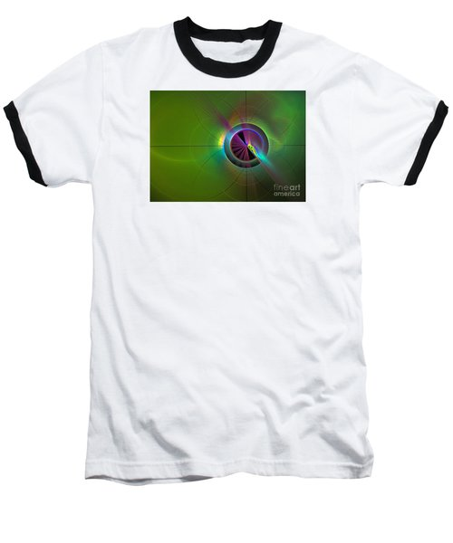 Theory Of Green - Abstract Art Baseball T-Shirt