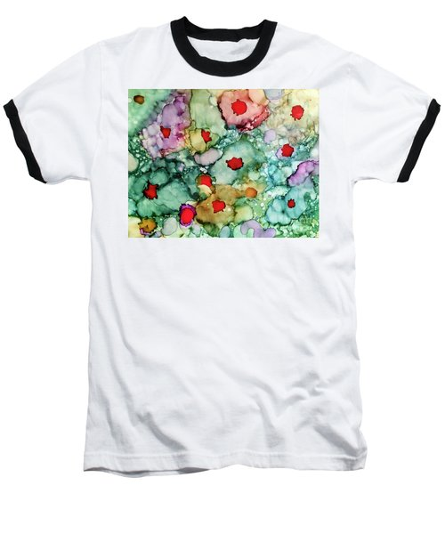 Baseball T-Shirt featuring the painting Think Spring by Denise Tomasura