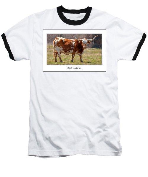 Think Vegetarian Baseball T-Shirt