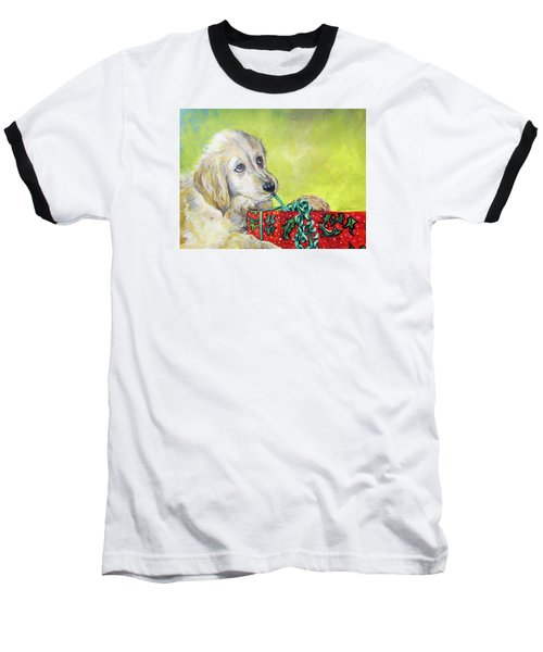 Baseball T-Shirt featuring the painting This Is Mine? Right? by Donna Tucker