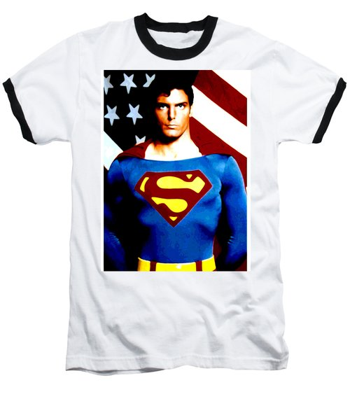 This Is Superman Baseball T-Shirt by Saad Hasnain