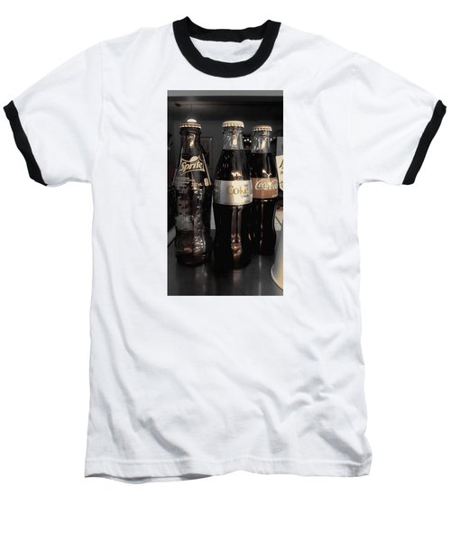 Three Bottles Full Baseball T-Shirt by Saad Hasnain