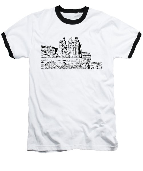 Three Gossips Drawing Baseball T-Shirt