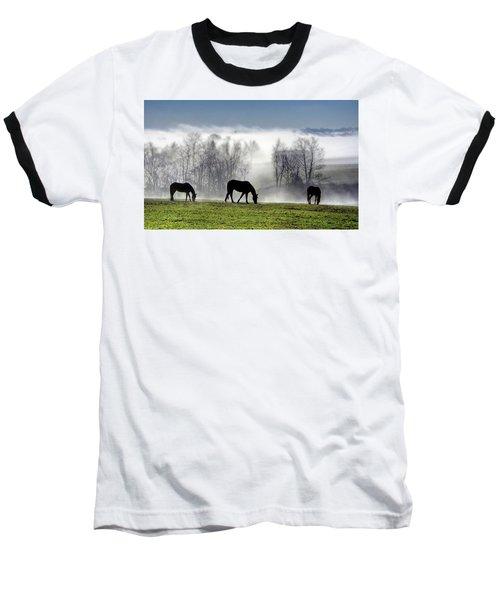 Three Horse Morning Baseball T-Shirt