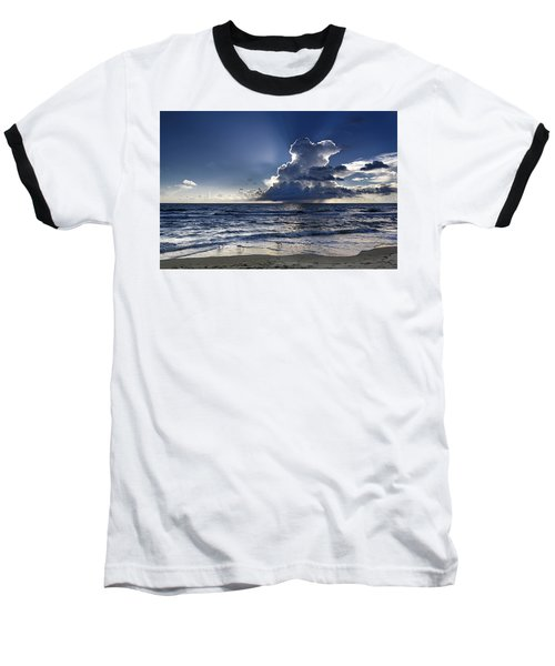 Baseball T-Shirt featuring the photograph Three Ibises Before The Storm by Steven Sparks