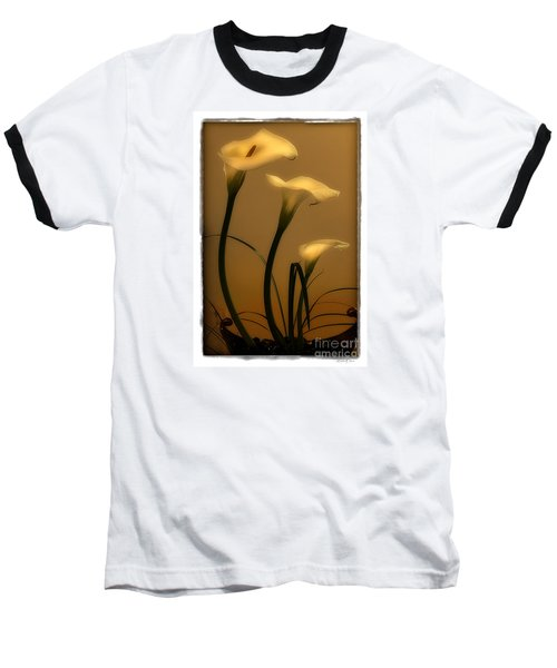 Baseball T-Shirt featuring the photograph Three Lilies by Linda Olsen