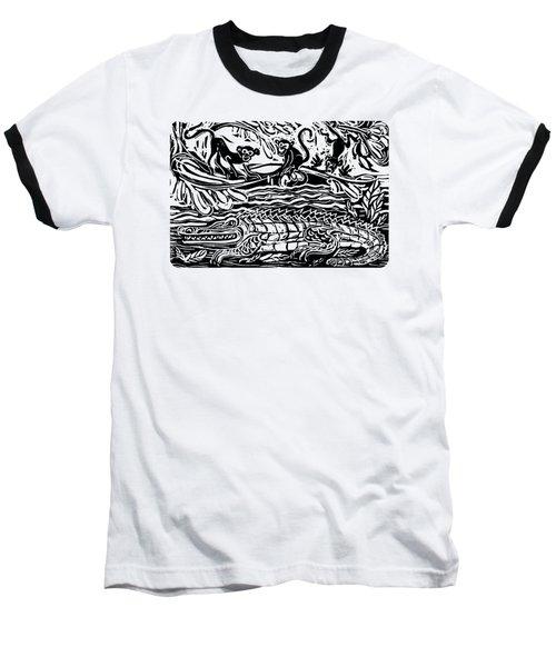 Three Little Monkeys  Baseball T-Shirt