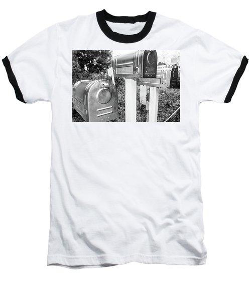 Three Mailboxes Baseball T-Shirt