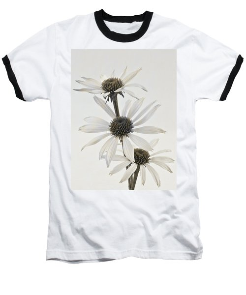 Three White Coneflowers Baseball T-Shirt