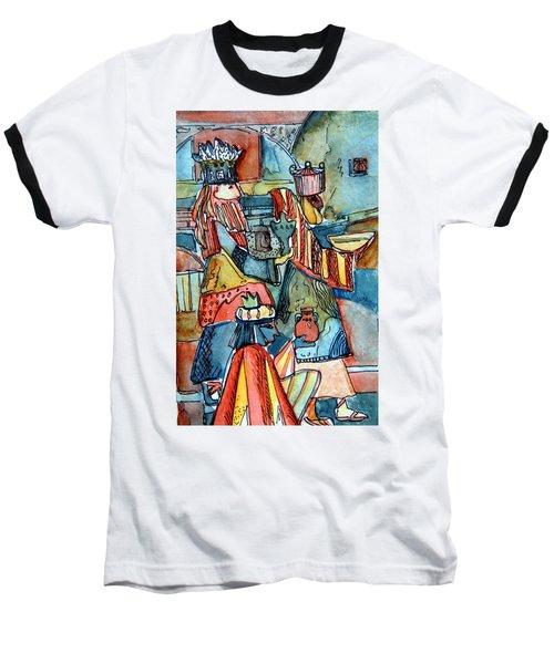 Three Wise Men Baseball T-Shirt by Mindy Newman