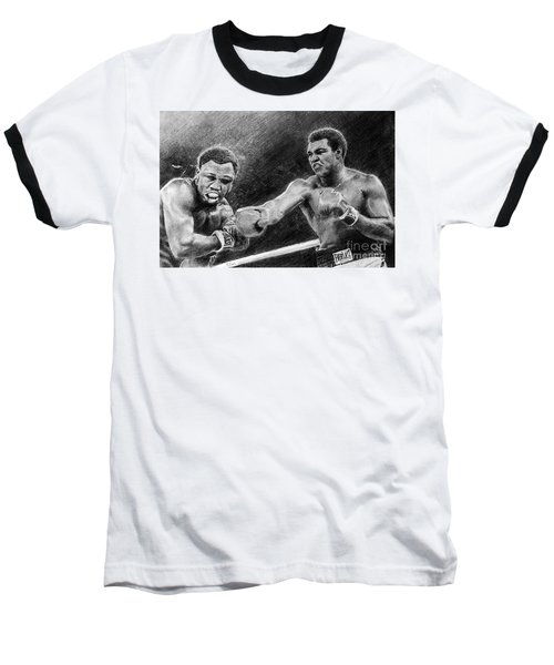 Thrilla In Manilla Pencil Drawing Baseball T-Shirt