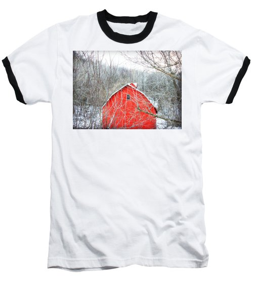 Through The Woods Baseball T-Shirt by Julie Hamilton